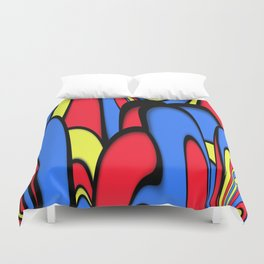 Comedy of Color Duvet Cover