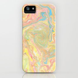 Summer Sherbet Marble iPhone Case