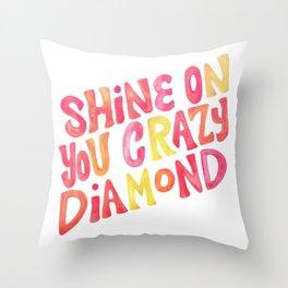 Shine On Your Crazy Diamond – Pink & Melon Palette Throw Pillow