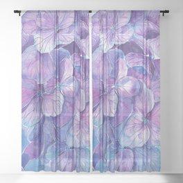 Hydrangea Sheer Curtain