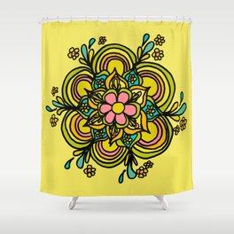 Flower Power Mandala Positive Vibes Flow Freely Shower Curtain