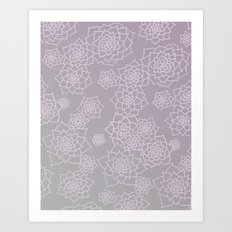 Faded Desert Floral Art Print
