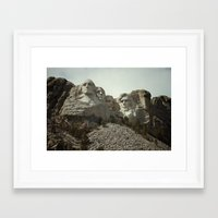 rushmore Framed Art Prints featuring Mount Rushmore by Jeremy Jon Myers