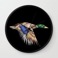 duck Wall Clocks featuring Duck by AkuMimpi