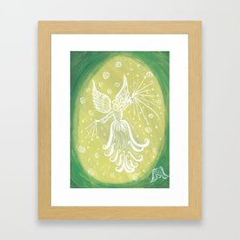 Archangel Raphael - Green Rays Framed Art Print
