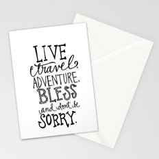 Live Travel Adventure - Hand Scripted  Stationery Cards