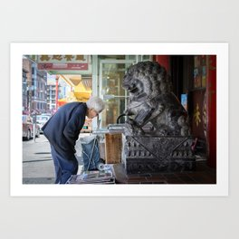 Chinatown Encounter Art Print