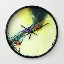 Glass and Smoke  - Square Abstract Expressionism Paintng Wall Clock