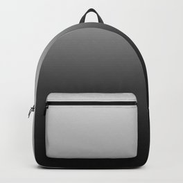 Gray to Black Horizontal Linear Gradient Backpack