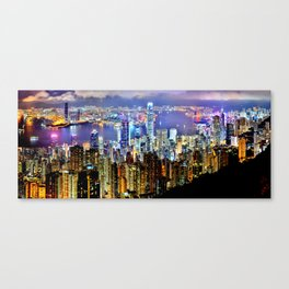 Hong Kong City Skyline Canvas Print