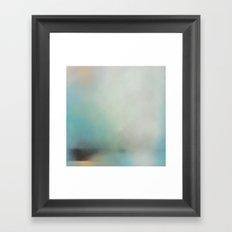 Saltwick Nab - Turquoise white abstract art Framed Art Print