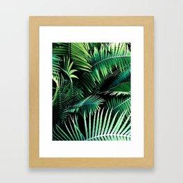 Winter Palms Framed Art Print