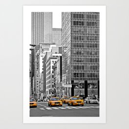 NYC Yellow Cabs NYPD - USA Art Print