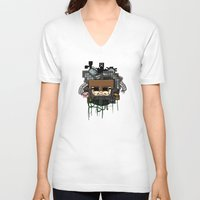 book cover V-neck T-shirts featuring CRAFT - Book Cover by VerticalSynapse