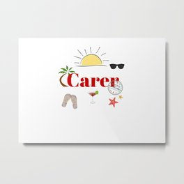 Carer on vacation Metal Print