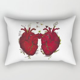 two hearts beating as one Rectangular Pillow