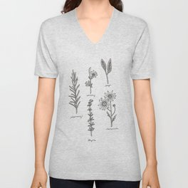 Kitchen Herbs Unisex V-Neck