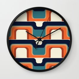 Mid-Century Modern Meets 1970s Orange & Blue Wall Clock