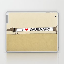 I love Sausages Laptop & iPad Skin
