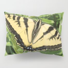 Swallowtail at Rest on Greenery Pillow Sham
