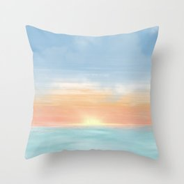 Brighton Sunset Throw Pillow