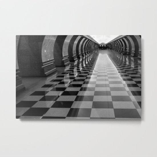 Moscow Metra Metal Print