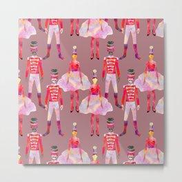 Nutcracker Ballet - Light Pink Gray Metal Print