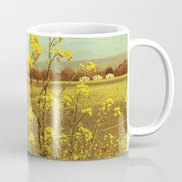 Spring Breeze (Mustard Plants and Cottage) Coffee Mug