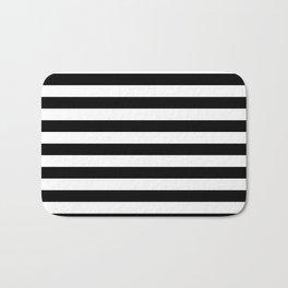 Stripes (Black & White Pattern) Bath Mat