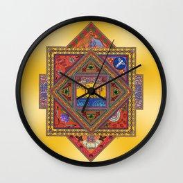 Meditation on Serenity (gradient gold) Wall Clock