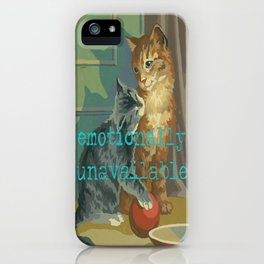 Vintage Paint By Number PBN Unavailable Cat iPhone Case