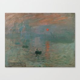 Claude Monet - Impression, Sunrise Canvas Print