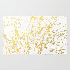 Splat White Gold Rug