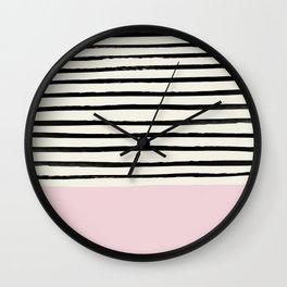 Bubblegum x Stripes Wall Clock