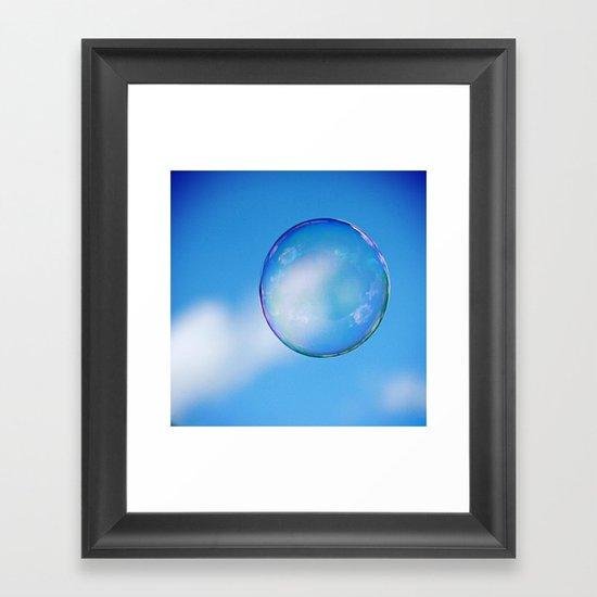 Single Floating Bubble Framed Art Print