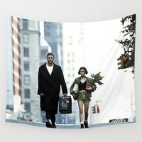 leon Wall Tapestries featuring LEON, THE PROFESSIONAL by VAGABOND
