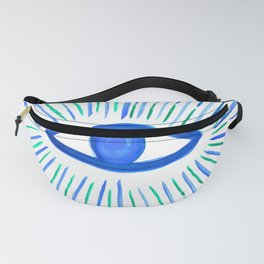 All Seeing Eye in Blue Watercolor Fanny Pack