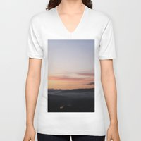 florence V-neck T-shirts featuring Florence Sunrise by viettriet
