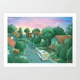Grimloch Lane, Sunset Art Print