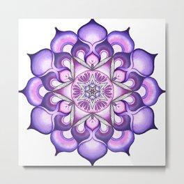 Yoga Mandala Metal Print