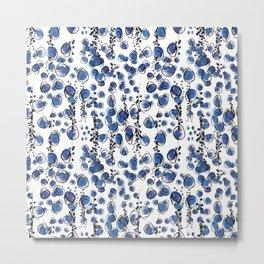 Blu Grapes Metal Print