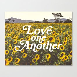 Love One Another Sunflowers Canvas Print
