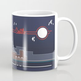 Seattle Skyline // Retroscape Coffee Mug