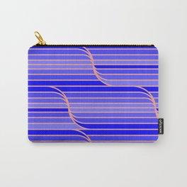 Geo Stripes - Cobalt Blue Carry-All Pouch