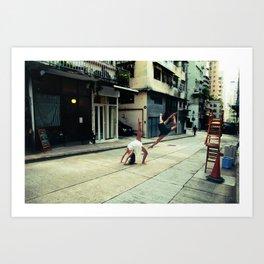 Dancers in Sheung Wan Art Print