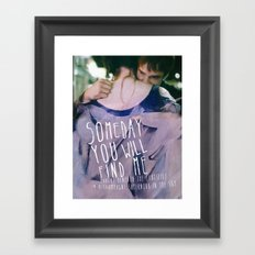Champagne Supernova Framed Art Print
