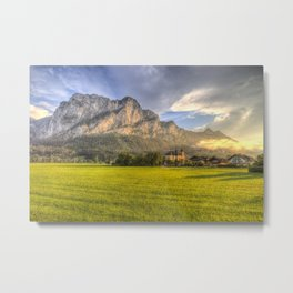 Saint Lorenz Austria Sunset Metal Print