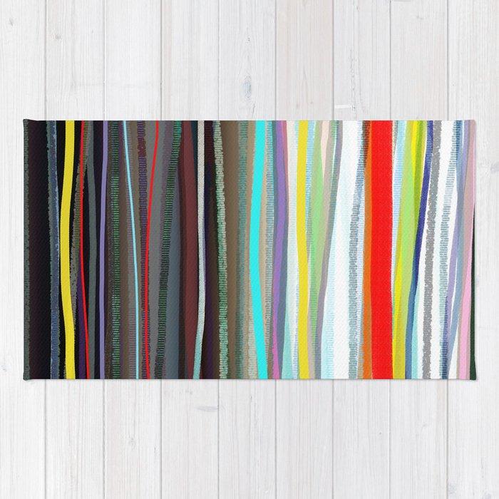 Shower Curtain Hippie CurtainsBoho CurtainGypsyStriped CURTAIN RusticFabricRibbon RainbowTee Rug