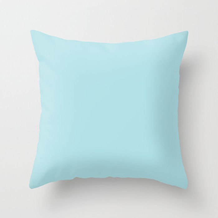 Powder Blue - solid color Throw Pillow