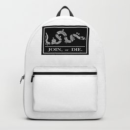 Join or Die Flag Silhouette Backpack